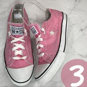 Converse Chuck Taylor Low Top Pink White Star 3